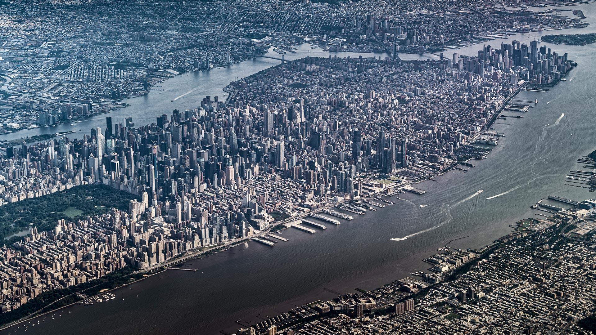 Manhattan aus der Luft
