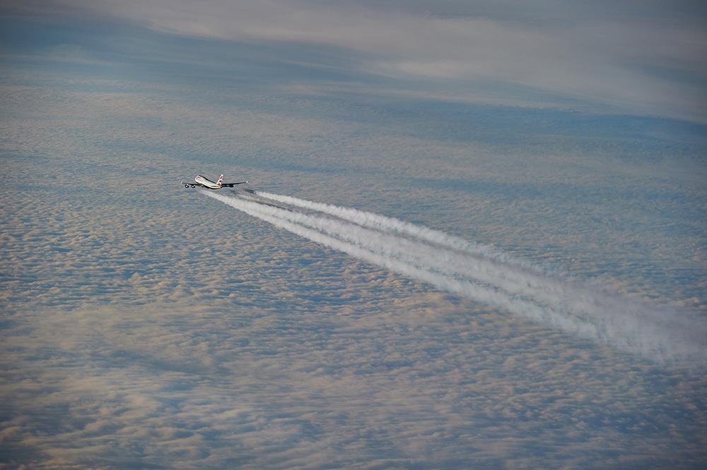 British Airways B747 am Himmel